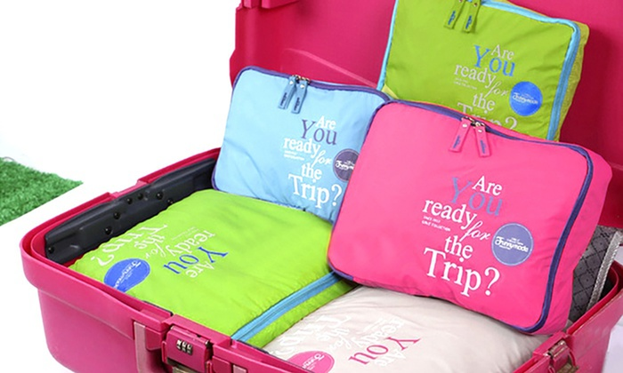 One, Two or Four Five-Piece Luggage Organiser Bag Sets