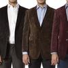 Alberto Cardinali Men's Tailored Fit Corduroy Sports Blazer