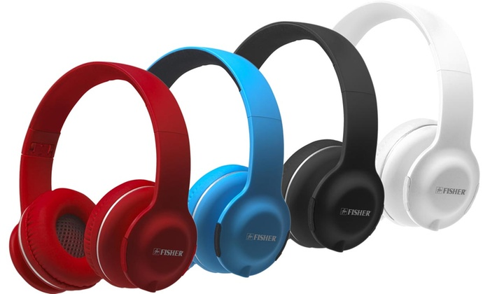 Fisher Lounge Wireless Bluetooth On Ear Headphones With Mic Groupon