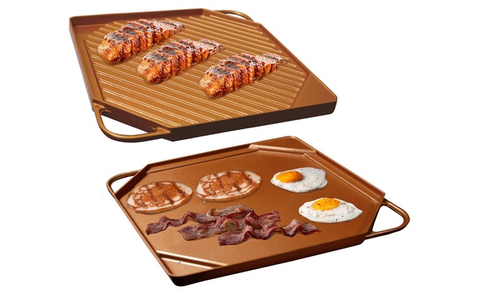 Up To 55 Off On Copper Griddle And Grill Pan Groupon Goods