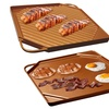 Dual-Sided Copper Griddle and Grill Pan