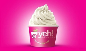 Yeh Frozen Yogurt and Cafe: Frozen Yogurt at Yeh! Frozen Yogurt and Cafe (40% Off). Two Options Available.