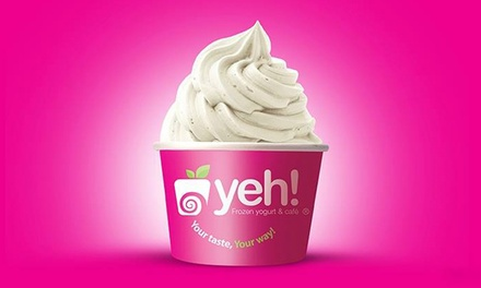 Frozen Yogurt at Yeh! Frozen Yogurt and Cafe (40% Off). Two Options Available.