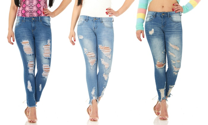 72b19215303ac CG Jeans Perfect Rise Ripped, Distressed, and Torn Ankle Skinny Jeans