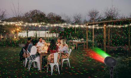 Pack Festif : Projecteur Laser + guirlande 50 ou 200 LED, blanc ou multicolore