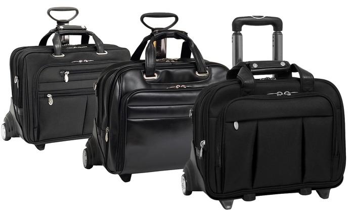 McKlein 2-in-1 Detachable Rolling Laptop Cases