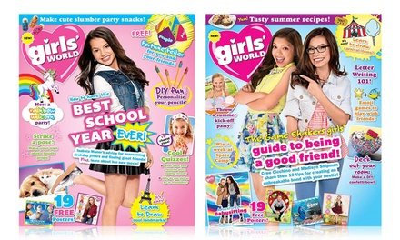 """One Year Subscription to """"Girls' World"""" (Up to 43% Off)"""