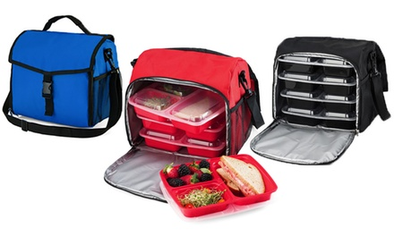 Meal Preparation Cooler and Food Storage Container Set (15-Piece)
