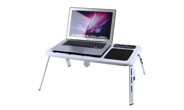 One or Two Foldable Laptop Tables with Cooling Fans