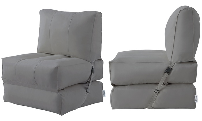 Enjoyable Up To 15 Off On Memory Foam Foldable Bean Bag Groupon Goods Inzonedesignstudio Interior Chair Design Inzonedesignstudiocom