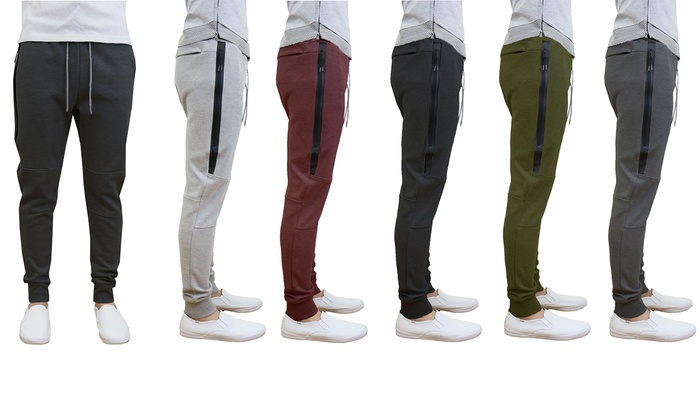 Galaxy by Harvic Men's Tech Fleece Slim-Fit Joggers (2-Pack)