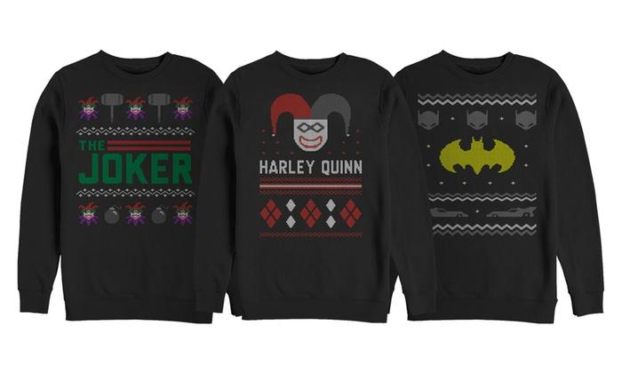 Men's DC Comics Ugly Sweater Fleece Sweatshirts