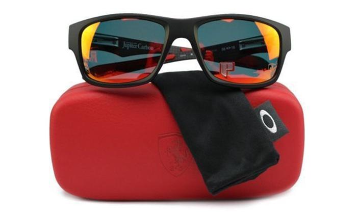 best men's polarized sunglasses zm74  Oakley Scuderia Ferrari Jupiter Men's Polarized Sunglasses: Oakley Scuderia  Ferrari Jupiter Men's Polarized Sunglasses
