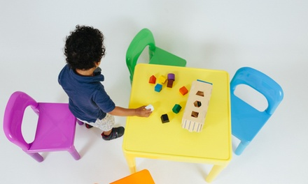 Oxgord Kids' Table and Chair Play Set (5-Piece)