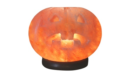 Carved pumpkin salt lamp 3 pk spiritual quest groupon