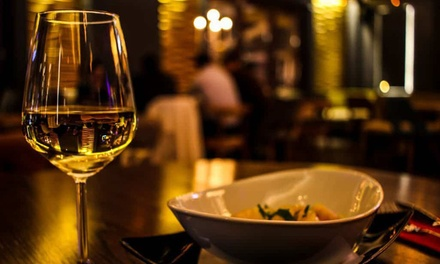 ThreeCourse Dinner with Wine for Two or Four at Aquum Bar & Restaurant, Clapham