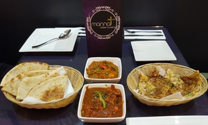 Mannat Indian Cuisine: Two-Course Indian Dinner for Two ($25), Four ($50) or Eight People ($100) at Mannat Indian Cuisine (Up to $212 Value)