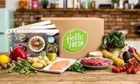 Kochbox mit Zutaten und Rezepten für 1 oder 2 Wochen für 2, 3 oder 4 Personen bei HelloFresh (bis zu 65% sparen*)