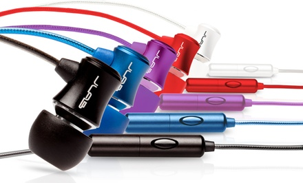 Groupon Exclusive: 2 Pairs of JLab J3M Metal Earbuds with Inline Mic and Remote