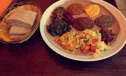 Ethiopian Cuisine at Lesaac Ethiopian Cafe (Up to 52% Off).  Two Options Available.