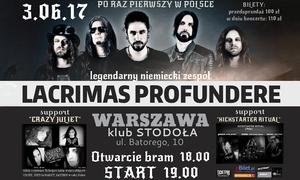 Agencja Artystyczna Music World Promotion: 74,99 zł: bilet na koncert zespołu Lacrimas Profundere – Warszawa i Kraków (zamiast 100 zł)