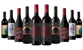 10-Bottles of Fiery Red Mixed Wines