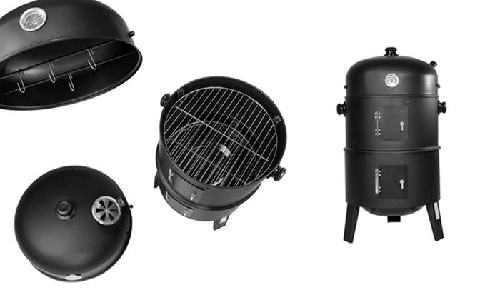 Groupon Goods Global GmbH: Barbecue d'hiver à charbon avec fumoir