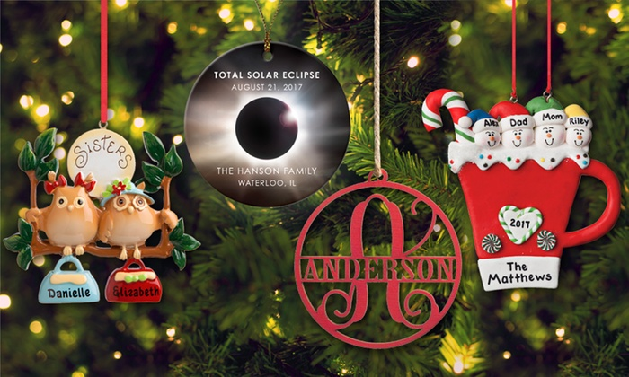 Up to 38% Off Personalized Wooden Christmas Ornaments - Custom Wooden Ornaments - Personalized Planet Groupon