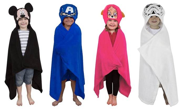 Children's Character Cuddle Hooded Robe in Choice of Design for £6.99