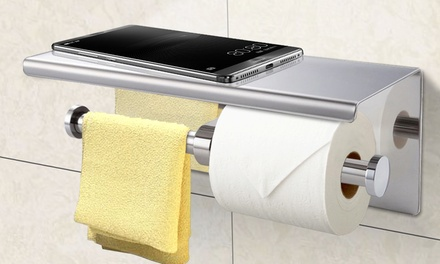 .95 for One or Two Stainless Steel Toilet Paper Roll Holders in a Choice of Two Styles