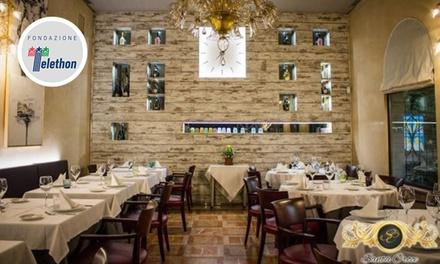 Santa Croce: menu di mare e vino