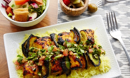 Mediterranean Food at Basha Mediterranean Wood Grill (Up to 47% Off). Three Options Available.