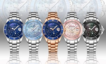 Stuhrling Women's Studded Diver Watch