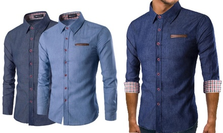 Men's LongSleeved Denim Shirt