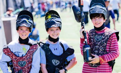 image for Gun, Mask, and All-Day Admission for Two, Four, Six, or Twelve from <strong>Paintball</strong> Tickets (Up to 91% Off)