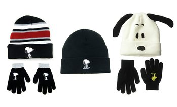 Peanuts: Snoopy Unisex Beanies with Optional Gloves