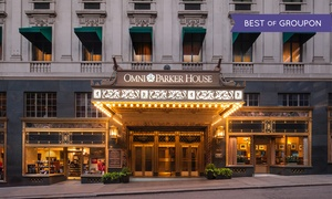 4-Star Downtown Boston Hotel at Omni Parker House, plus 9.0% Cash Back from Ebates.