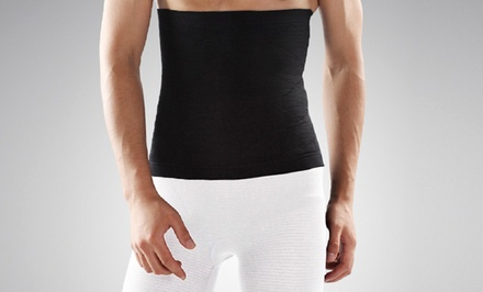 Transform Compression and Detox Waist Wrap Slimmer for Men in Black