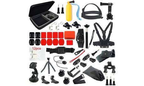 Pack de accesorios de 53, 23 y 9 piezas para cámaras deportivas GoPro Oferta en Groupon