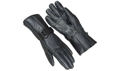 Raider Powersports All Season Leather Motorcycle Gauntlet Riding Gloves 1e02caaa-fac8-11e6-affe-00259069d7cc