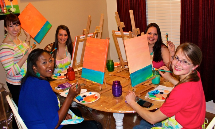 Colors & Cocktails - Home: Mobile BYOB Painting Party for One, Two, or Up to Seven from Colors & Cocktails (Up to 48% Off)