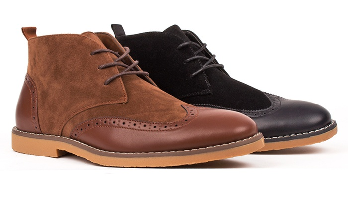 Royal Men's Wingtip Chukka Boots (Size 10.5) | Groupon