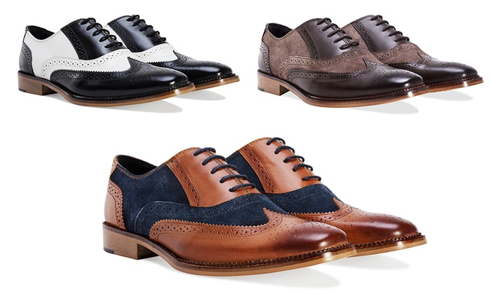 quality design good selling hot sale online Gentleman's 2-Tone Oxford Brogues | Groupon Goods