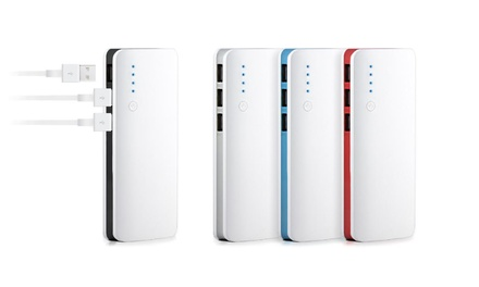 1 o 2 powerbanks 20000mAh con 3 puertos con opción a cable Lightning o USB