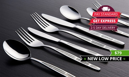 $79 for a Mayfair Home Designer 100pc Stainless Steel Cutlery Set Don't Pay $290