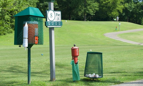 18-Hole Round of Golf for Two, Three, or Four with Cart and Range Balls at Gillespie Golf Course (Up to...