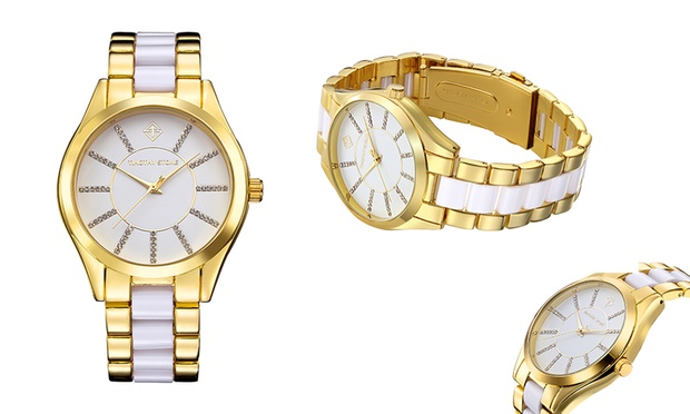 Free Shipping: Timothy Stone Womens Watch with Crystals from Swarovski®: 1 ($35) or 2 ($65) (Dont Pay up to $885.79)