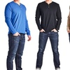 Men's Cotton Henley Shirts (3-Pack)