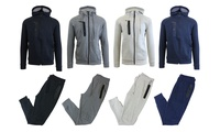 2-Pc Men's Tech Fleece Hoodie and Jogger Set