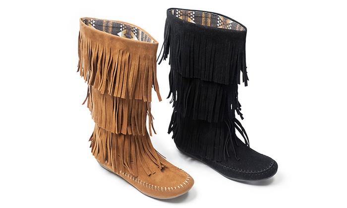 Unionbay Women's Fringe Boots | Groupon Goods